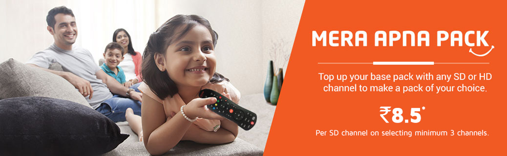 Add A Channel | Mera Apna Pack -DishTV